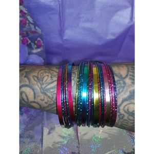 Jewelry - 20 Shimmer and Shine Bangles Set